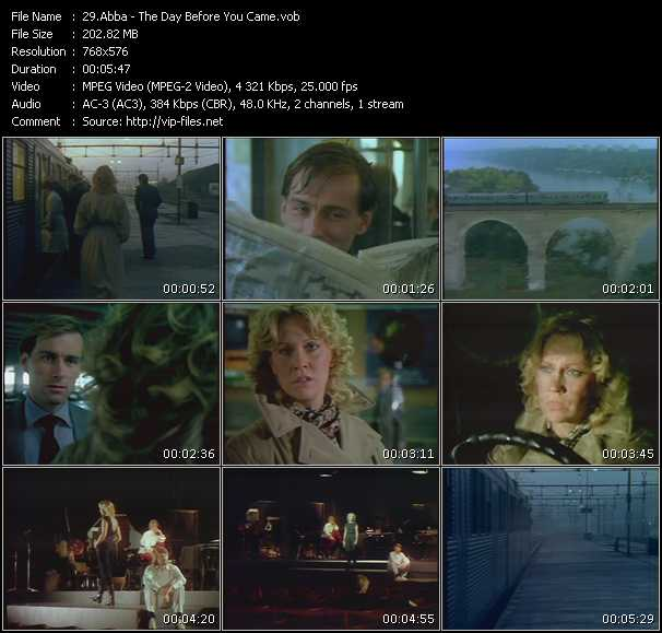 Abba video - The Day Before You Came