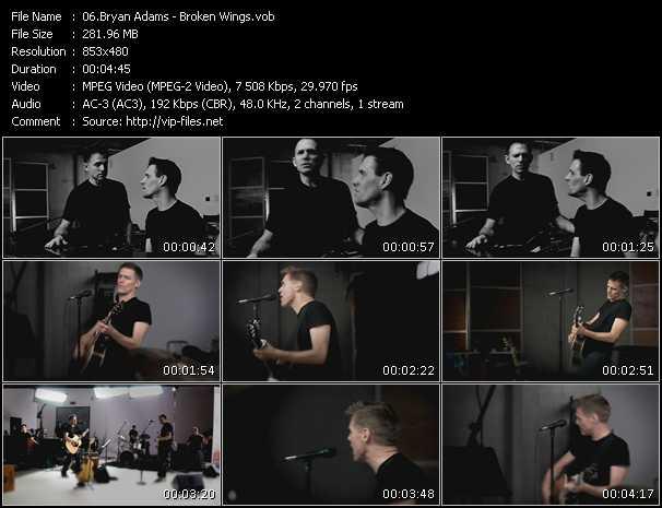 B. Adams video - Broken Wings