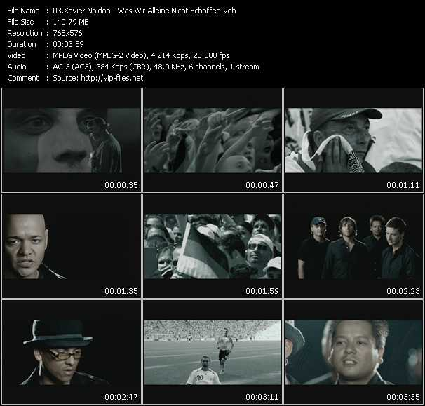 Xavier Naidoo video - Was Wir Alleine Nicht Schaffen