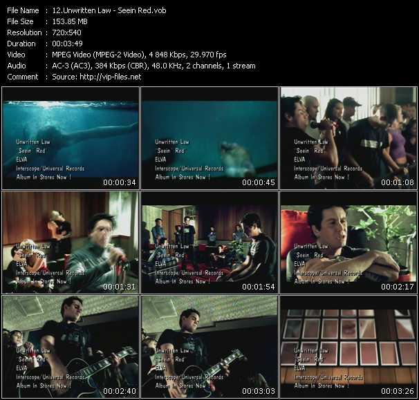 Unwritten Law video - Seein Red