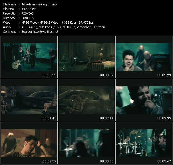 Adema video - Giving In