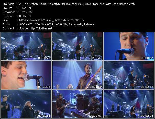 Afghan Whigs video - Somethin' Hot (October 1998) (Live From Later With Jools Holland)