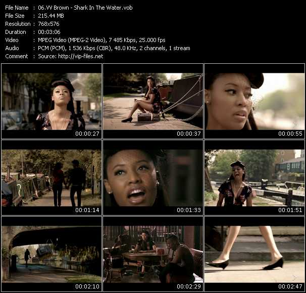 VV Brown video - Shark In The Water