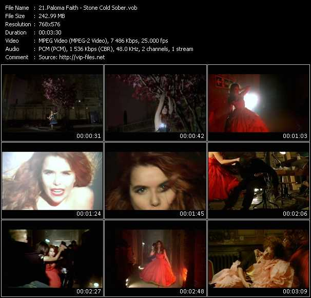 Paloma Faith video - Stone Cold Sober