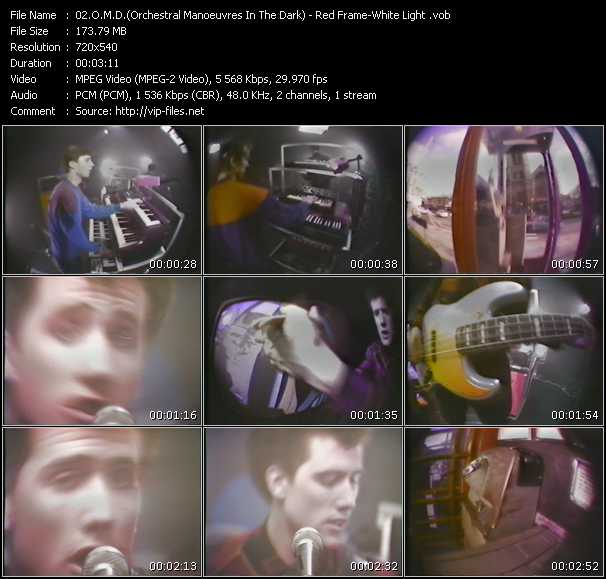 O.M.D. (Orchestral Manoeuvres In The Dark) video - Red Frame - White Light
