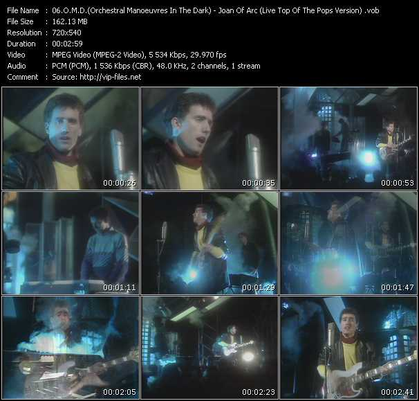O.M.D. (Orchestral Manoeuvres In The Dark) video - Joan Of Arc (Live Top Of The Pops Version)