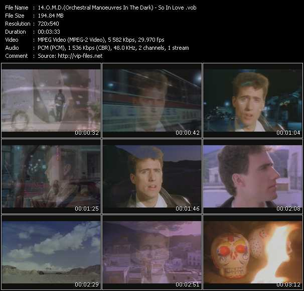 O.M.D. (Orchestral Manoeuvres In The Dark) video - So In Love