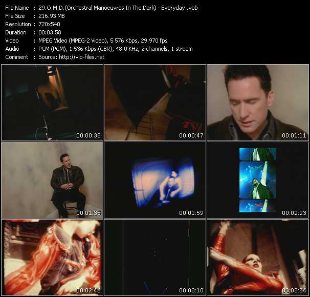O.M.D. (Orchestral Manoeuvres In The Dark) video - Everyday