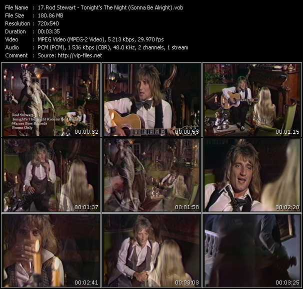 Rod Stewart video - Tonight's The Night (Gonna Be Alright)