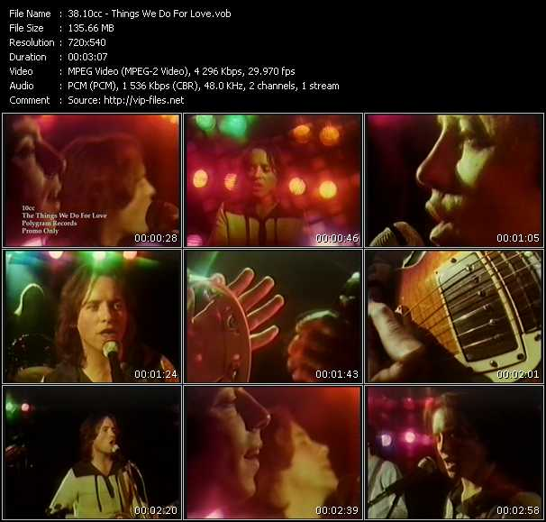 10cc video - Things We Do For Love