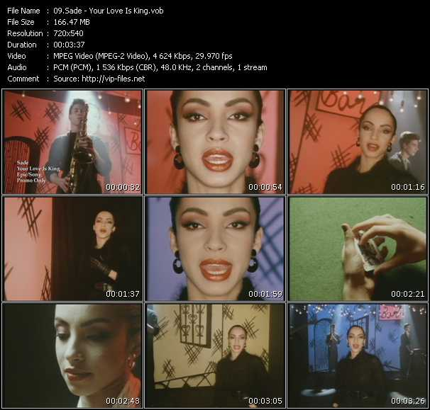 Sade video - Your Love Is King