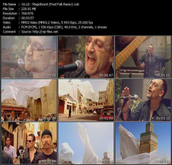 U2 video - Magnificent (Fred Falk Remix)