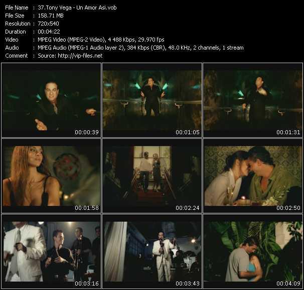 Tony Vega video - Un Amor Asi