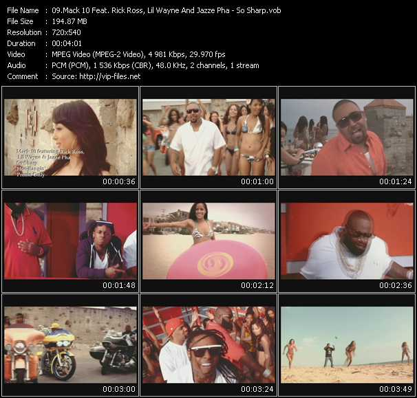 Mack 10 Feat. Rick Ross, Lil' Wayne And Jazze Pha video - So Sharp