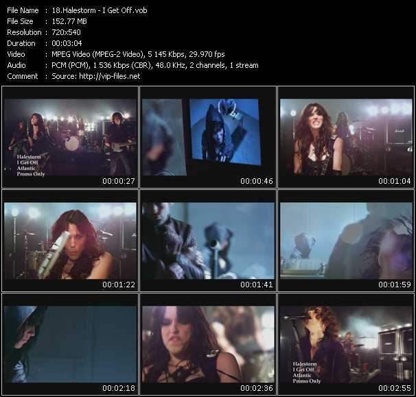 Halestorm video - I Get Off