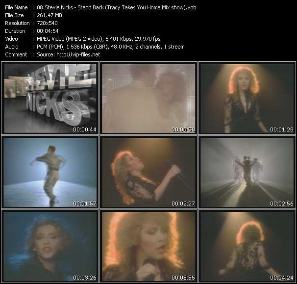 Stevie Nicks video - Stand Back (Tracy Takes You Home Mix show)