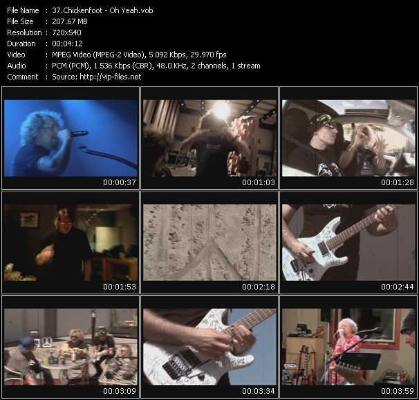 Chickenfoot video - Oh Yeah