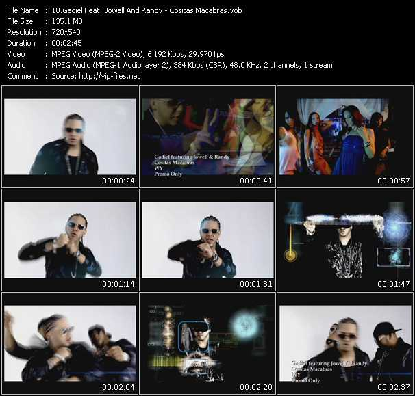 Gadiel Feat. Jowell And Randy video - Cositas Macabras
