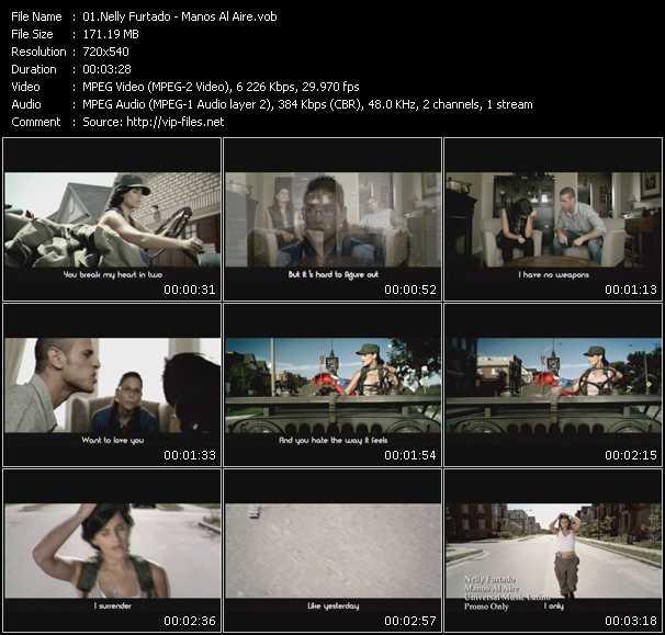 Nelly Furtado video - Manos Al Aire