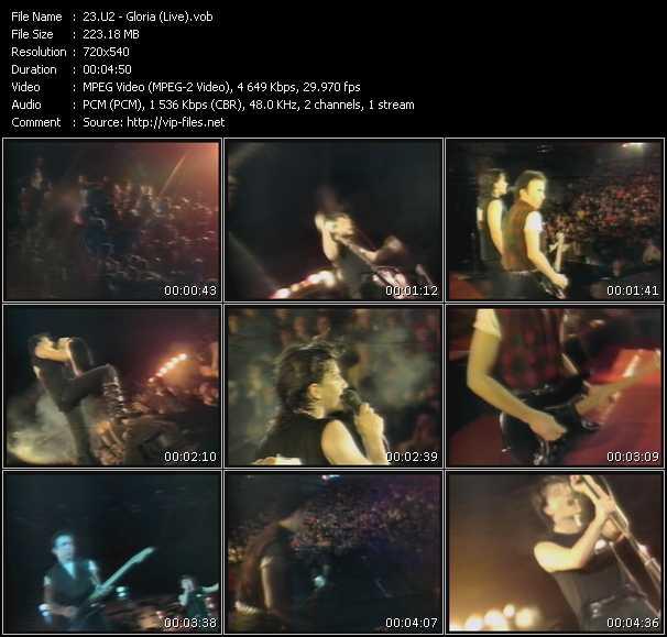 U2 video - Gloria (Live)