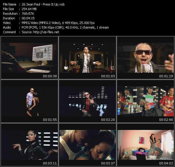 Sean Paul video - Press It Up