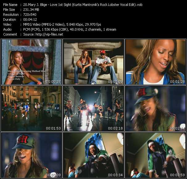 Mary J. Blige video - Love 1st Sight (Kurtis Mantronik's Rock Lobster Vocal Edit)