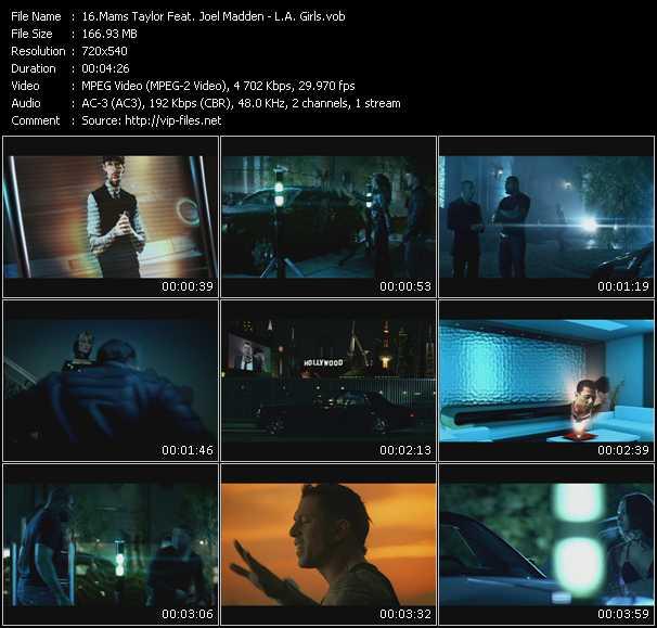 Mams Taylor Feat. Joel Madden video - L.A. Girls