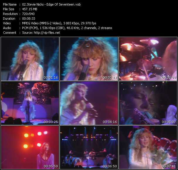 Stevie Nicks video - Edge Of Seventeen