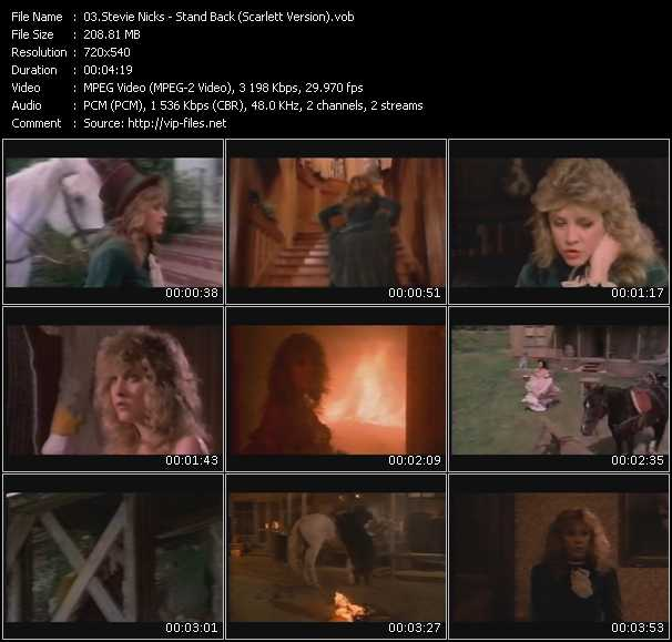 Stevie Nicks video - Stand Back (Scarlett Version)