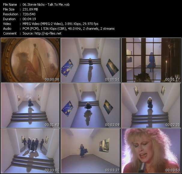 Stevie Nicks video - Talk To Me