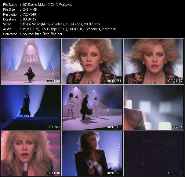 Stevie Nicks video - I Can't Wait