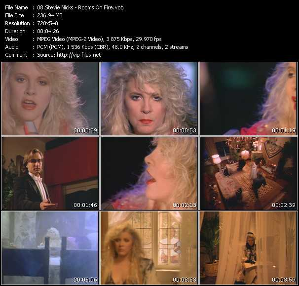 Stevie Nicks video - Rooms On Fire
