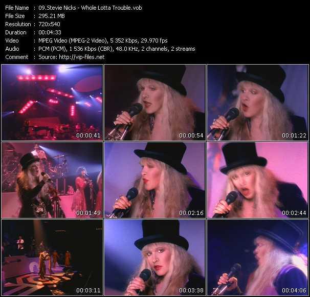 Stevie Nicks video - Whole Lotta Trouble
