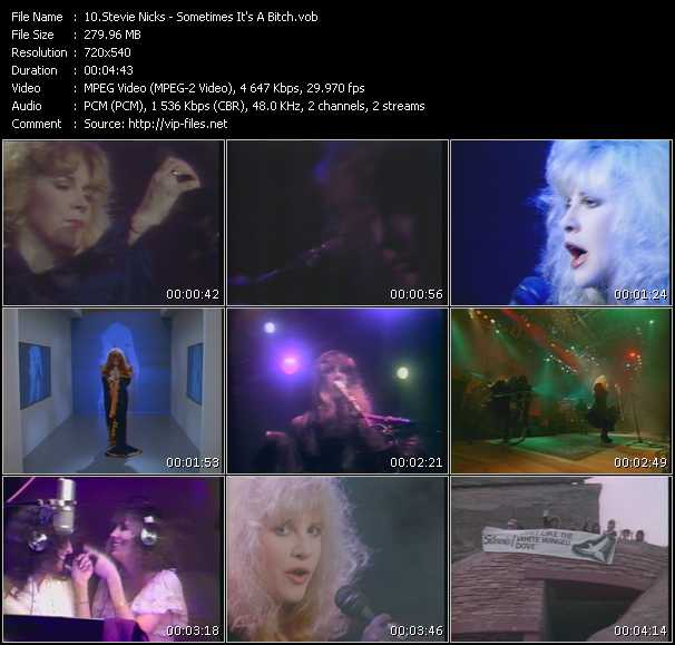 Stevie Nicks video - Sometimes It's A Bitch