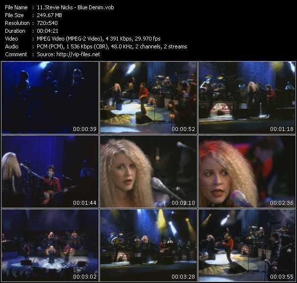 Stevie Nicks video - Blue Denim