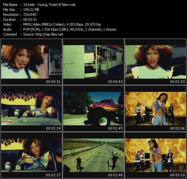 Kelis video - Young, Fresh N' New