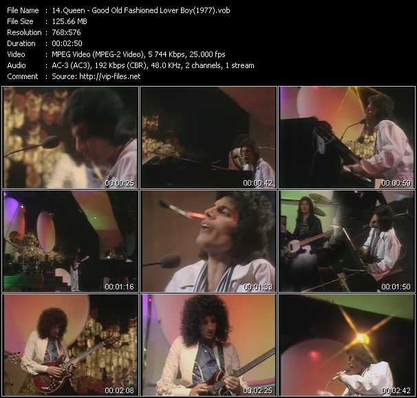 Queen video - Good Old Fashioned Lover Boy (From Top Of The Pops 1977)