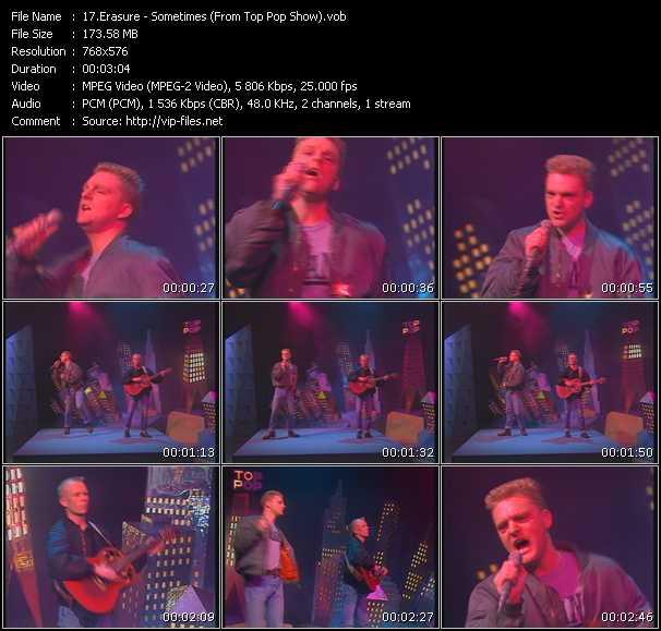 Erasure video - Sometimes (From Top Pop Show)