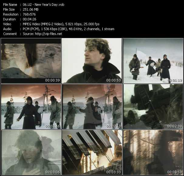 U2 video - New Year's Day