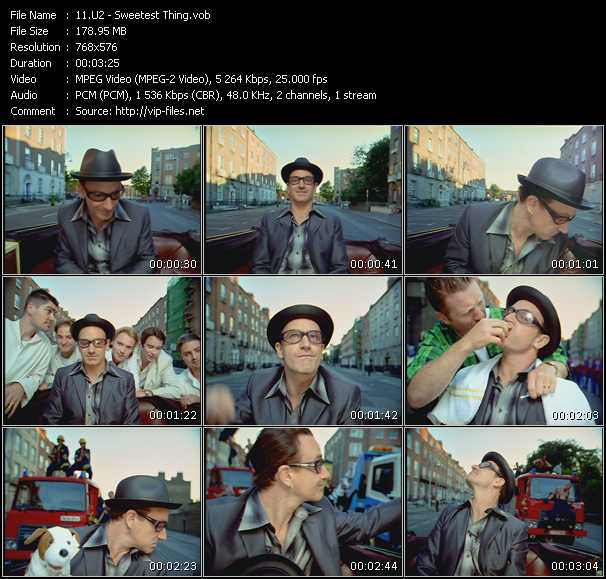 U2 video - Sweetest Thing