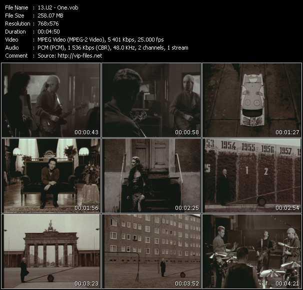 U2 video - One