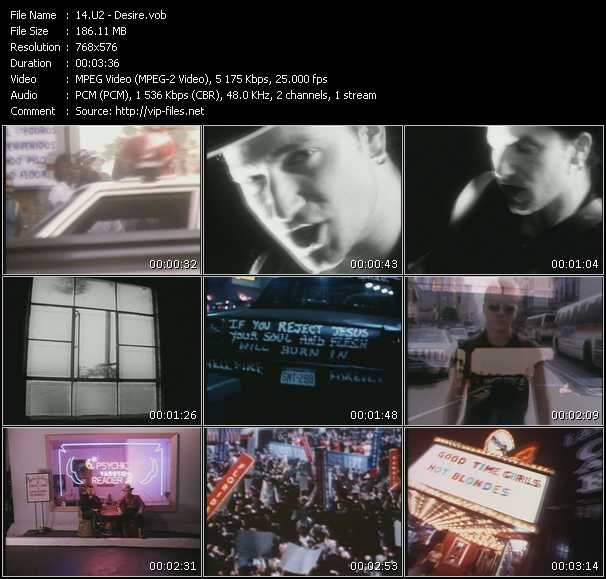 U2 video - Desire