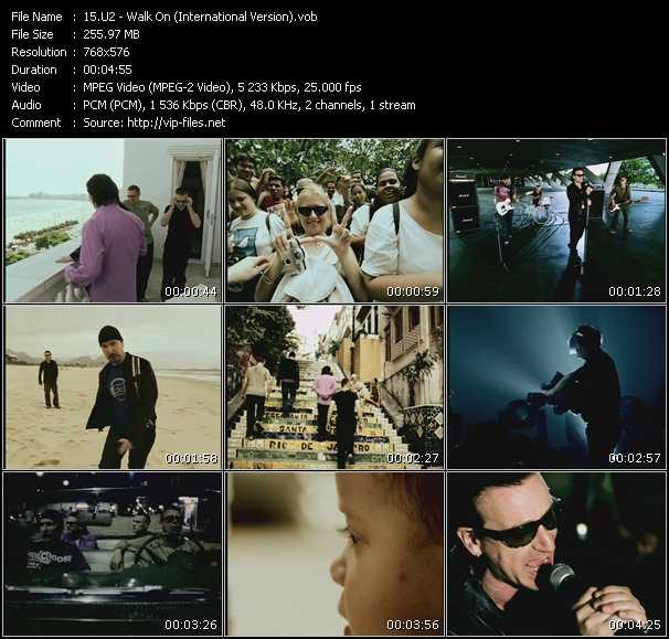 U2 video - Walk On (International Version)