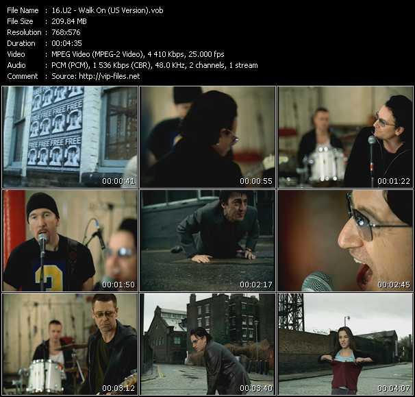 U2 video - Walk On (US Version)