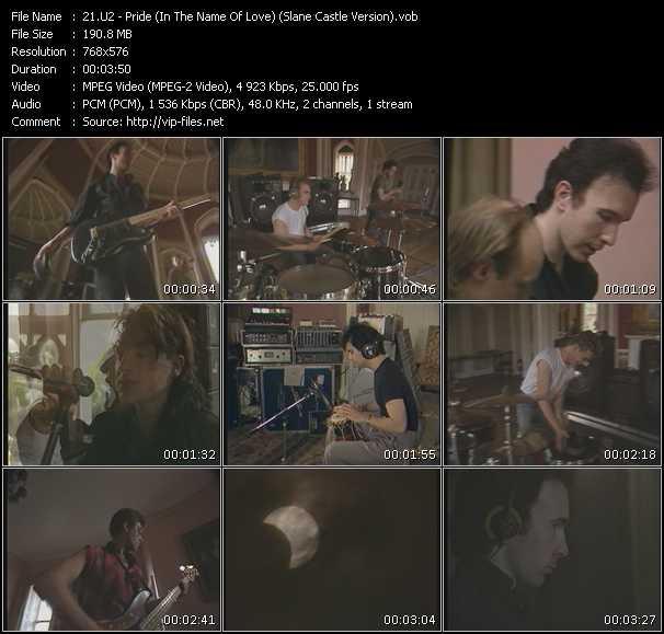 U2 video - Pride (In The Name Of Love) (Slane Castle Version)