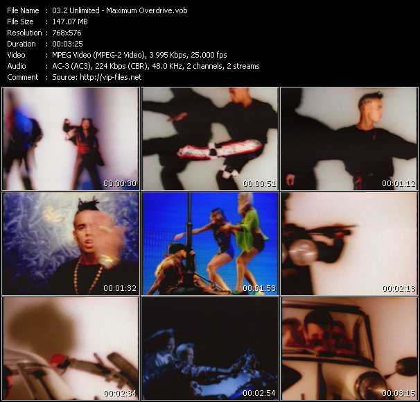 2 Unlimited video - Maximum Overdrive