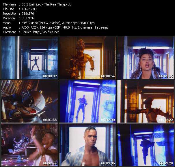 2 Unlimited video - The Real Thing