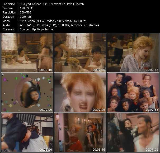 Cyndi Lauper video - Girl Just Want To Have Fun