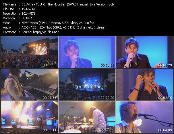 A-Ha video - Foot Of The Mountain (SWR3 Hautnah Live Version)