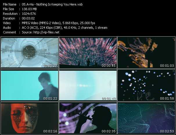 A-Ha video - Nothing Is Keeping You Here